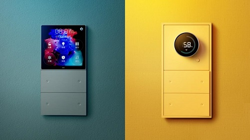 smart control panels with intelligent systems yello and green