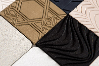 innovative material made from recycled ceramic tiles